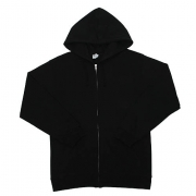 AAA 1574 Adult Hooded Full-Zip Fleece (Black)