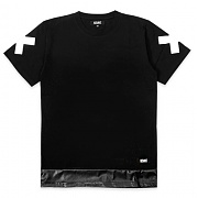 스턴트 Bottom Leatherette Tee (Black)
