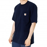 칼하트 워크웨어 포켓 반팔티 네이비(CARHARTT WORKWEAR POCKET SHORT-SLEEVE T-SHIRT NAVY)