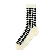 [탄포포] Hound Tooth Sock Ivory