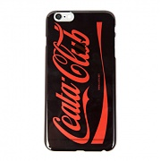 Cellphone cover Coca-Cola logo parody clear (iPhone 6 Plus) black