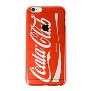 Cellphone cover Coca-Cola logo parody clear (iPhone 6 Plus) red