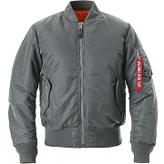알파인더스트리 MA-1 플라이트자켓 건메탈(ALPHAINDUSTRIES MA-1 FLIGHT JACKET REPLICA GUN METAL)