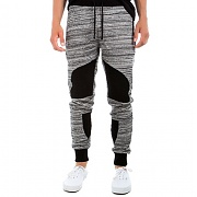 크룩스앤캐슬 Knit Biker Sweatpants - Swift (Heather Grey/Black)