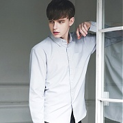 [울프엔더]Basic Oxford Shirt (Gray)