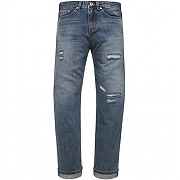 모디파이드 M0726 slimmer wide washed jeans