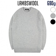 [TRMARK] LAMBSWOOL CROSS KNIT