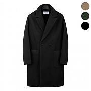[TRMARK] WOOLEN OVER DOUBLE COAT_BLACK