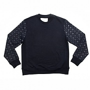 에이치이 Pyramid Logo Crewneck Sweat Navy
