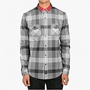 도프 Contrast Color Flannel Button Up (Black)