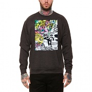 레벨에잇 REBEL8 X MISHKA GATES OF HELL CHARCOAL CREWNECK (HEATHER CHARCOAL)