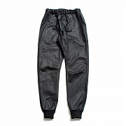 Coated Jogger Pants Washed Black
