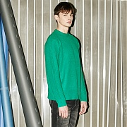 [A=P] BASIC MULTI COLOR KNIT (GREEN)