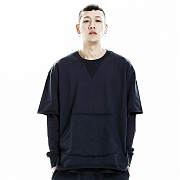 제네럴웍스 GWC101 SHORT SWEATSHIRT - NAVY