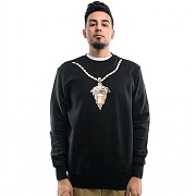 크룩스앤캐슬 Knit Crew Sweatshirt - Medusa Chain 2.0 (Black)