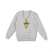 크룩스앤캐슬 Knit Crew Sweatshirt - Medusa Chain 2.0 (Heather Grey)