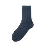 [탄포포] Solid Rib Ankle Socks Blue Green