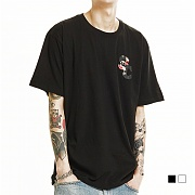 (단독가) 스니키챔프 SNCP019 Short Sleeve - black/white