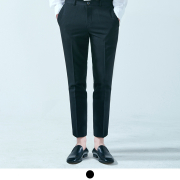 어커버 9부 Standard Fit Ankle Slacks Black