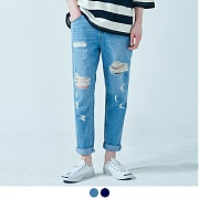 [어커버]Damage Washed Denim Light Blue