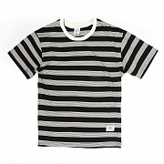 덕다이브 DUCKDIVE Dynamic Striped T _ Black