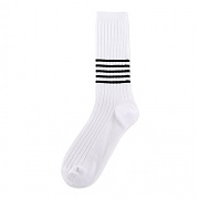 [탄포포] SB 5 Stripe Socks White