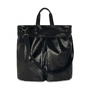 [쿄시츠비]HIGH GLOSSY TWO WAY BAG BLACK