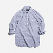 Seersucker pullover shirt 002 _ blue