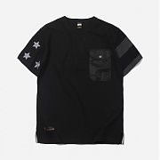 Side flag pocket tee _ black
