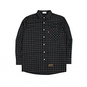 짐커프(JIMCUFF) Oversize Tile Check Shirts J261 Black 오버체크셔츠