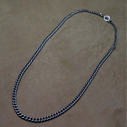 [블레스드 뷸렛] (SILVER)7mm classic chain necklace