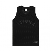 [스티그마]STIGMA LOGO MESH SLEEVELESS BLACK