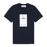 ON THE CLOUDS TEE-NAVY