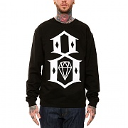 REBEL8 LOGO CREWNECK (BLACK)