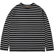 [모디파이드] M1013 boatneck stripe t-shirt (black/grey)