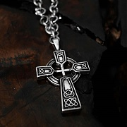 (단독가)블레스드뷸렛 (SILVER)Ribirth Cross Necklace