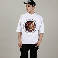 앱놀머씽 타로 캣 5CUT 티셔츠 화이트 (ABNORMALTHING TARO CAT 5CUT T-SHIRT WHITE)
