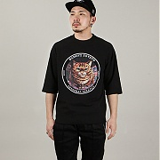 앱놀머씽 타로 캣 5CUT 티셔츠 블랙 (ABNORMALTHING TARO CAT 5CUT T-SHIRT BLACK)