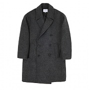 [커스텀어클락]DB.OVERSIZED WOOL COAT CHARCOAL