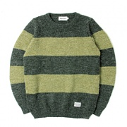 세인트페인 SP NEVERMIND KNIT STRIPE LS-GREEN