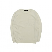 Vastic Pocket Wool Knit_Ivory
