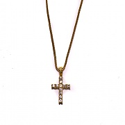디자인바이티에스에스Design By TSS GOLD MEDIUM CROSS Necklace (GOLD)