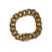 디자인바이티에스에스Design By TSS CUBAN LINK BRACELET (GOLD)