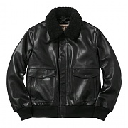 슈프림 SUPREME Supreme/Schott Leather A-2 Flight Jacket (BLACK)