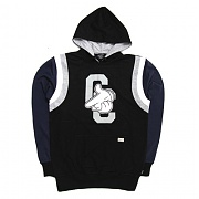 크룩스앤캐슬 CROOKS&CASTLES MENS KNIT CC AIR GUNS PULLOVER (BLACK/NAVY)