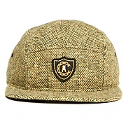 크룩스앤캐슬 CROOKS & CASTLES Mens Woven 5 Panel Cap - Confetti 3 (GREEN)