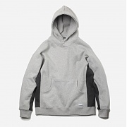 Side coloration hoody _ gray