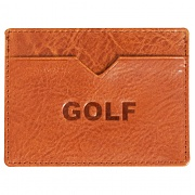 골프왕 GOLFWANG GOLF CARD WALLET BROWN