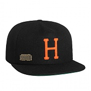 허프 HUF HOME FIELD WOOL STRAPBACK (BLACK)