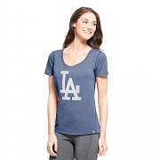 47brand LOS ANGELES DODGERS SHIFT BLUE HIGH POINT TEE WOMENS/MLB